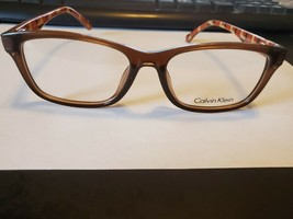 NEW CALVIN KLEIN CK5837 210 Brown Unisex Eyeglasses Frame 52-16-140 PERFECT - $36.53