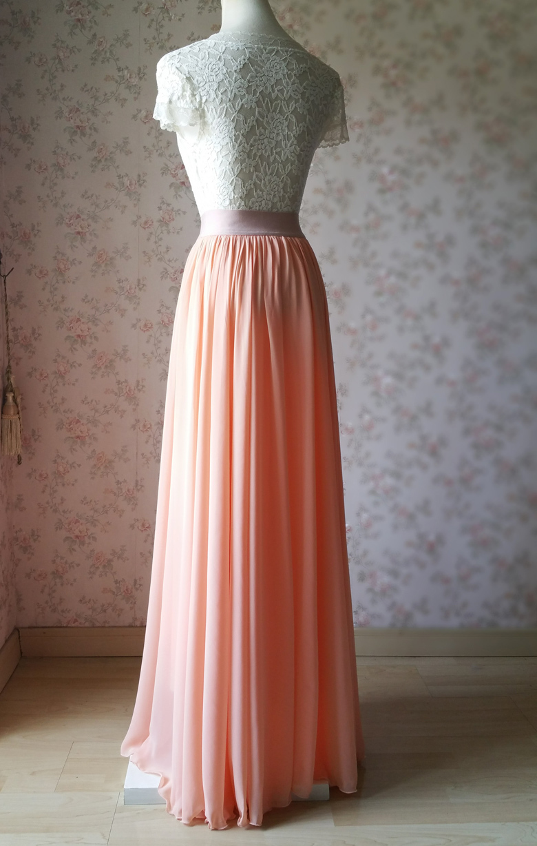 Wedding bridesmaid skirt coral 11