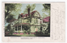 Vice President Fairbanks House Indianapolis IN postcard - $4.46