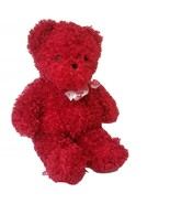 "Coinstar Sugar Loaf Red Curly Hair Teddy Bear Heart Ribbon 2007 21"" - $12.26"