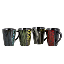 Gibson Home Ashanti Damask  4 Piece 14 oz. Mug Set in Assorted Colors - $32.55