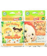 2 LOT - LEAPFROG JUNIOR TAG BOOK DAVID SMELLS & OUR BIRTHDAY AT THE ZOO NEW - $11.94