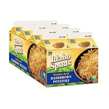 Idaho Spuds Real Potato, Gluten Free, Golden Grill Hashbrowns 4.2oz 8 Pack image 2
