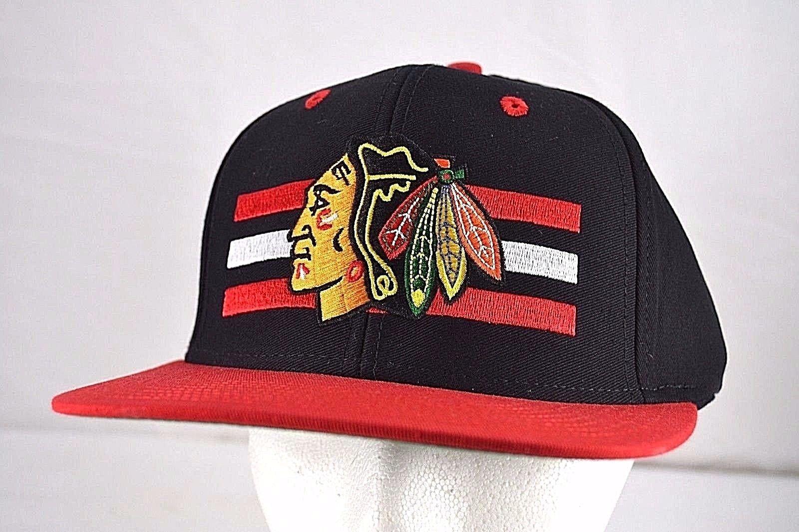 7216861ff0e Chicago Blackhawks Black Red Baseball Cap and 50 similar items