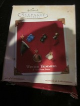 HALLMARK KEEPSAKE ORNAMENT 2003 A VISIT FROM SANTA WINTER TRIMMERS - $9.99
