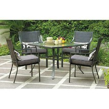 Mainstays Alexandra Square 5-Piece Outdoor Patio Dining Set, Grey With L... - €209,38 EUR