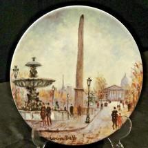 """Collector's Plate """"LA PLACE DE LA CONCORDE"""" AA20-7207BB Vintage"""