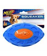 Nerf Dog 6in TPR EXO Squeak Football - Blue/Orange - $14.69