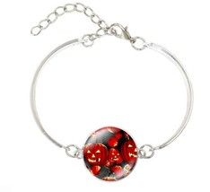 2017 New 12 piece Halloween Witch Pumpkin Silver Bracelet - £28.31 GBP