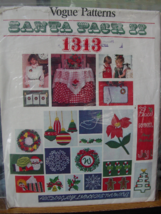 Transfer patterns, Vogue 1313, Christmas Decor, Santa Pack II Embroidery... - $6.99