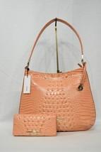 SET of Brahmin Farrah Leather Shoulder Bag + Ady Wallet in Cantaloupe Melbourne - $349.00