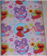 Sesame Street Flowers for Abby Gift Wrapping Paper 12.5 Sq Ft Roll - $7.00