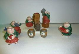 Lot of 7 Dept 56 Merry Makers Monks Cider Operation - $29.02