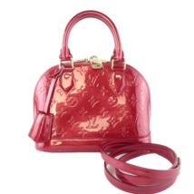 Louis Vuitton Pomme D'Amour Red Monogram Vernis Alma BB Bag - $1,149.00