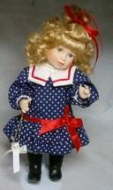 "Maria Osmond 12"" toddler doll Gabriella 1992 Red white Blue Star Dress - $29.35"