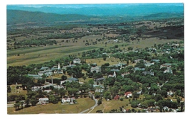 Vermont Middlebury Aerial View of Village and College Vntg F L Forwards ... - $4.50