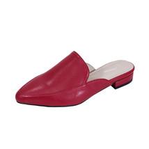 PEERAGE Maggie Women Wide Width Low Heel Pointed Toe Leather Mule Shoes  - $49.95