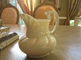 "VTG LENOX CHINA COLONIAL COLLECTION IVORY PITCHER CREAMER  USA 5.5"" GREE... - $11.83"