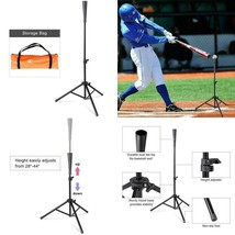 "Baseball Batting Tee | 28"" to 44"" Adjustable Practice Baseball Tripod Stand - $31.16"
