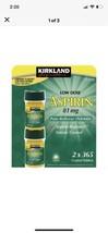 3 X Kirkland Signature Aspirin LOW DOSE 81mg Enteric Coated, 365 Tablets... - $12.76