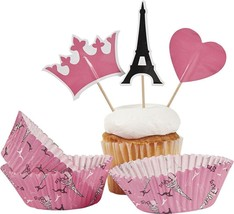 Perfectly Paris Baking Cups With Picks - 100 Pieces