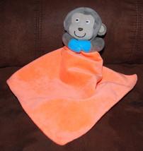 Carters Lovey Security Blanket Brown Monkey Bright Orange Rattle Plush T... - $24.70