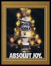 1989 Absolut Joy Vodka Framed 11x14 ORIGINAL Vintage Advertisement  - $32.36