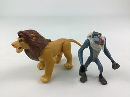 The Lion King Fighting Action Mufasa and Rafiki Figures 2pc Lot Disney Mattel - $26.68