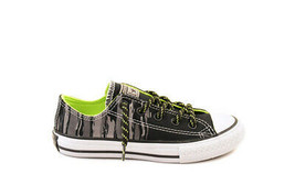 Converse Junior Chuck Taylor All 654219C Sneakers Black/Bold Lime RRP £5... - $31.05