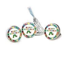 Very Hungry Caterpillar Birthday Kisses Candy Stickers, Party Favor Stickers, Ca - $13.37