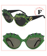 GUCCI 0781 Black Green Spike Pearl Sea Shell Runway Unisex Gg0781 002 Sunglasses - $311.85