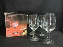 NIB Vintage 70's Libbey wine glasses 4 Mr. Pro Model 3765 NOS Bar ware 8 OZ NEW - $16.15