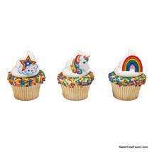 RAINBOW UNICORN START Party CUPCAKE Birthday Favors Topper Decoration Ri... - $6.88