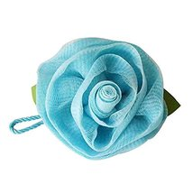 2PCS Rose Bath Ball Shower Sponge Gentle Exfoliating Mesh Bath Ball(Blue)