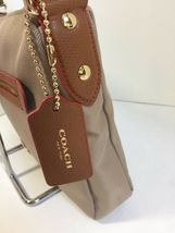 New Coach Crossbody Bag Fume Nylon F37337 Stone Brown B2A image 8
