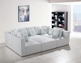 VIG Modern Divani Casa 206 White Bonded Leather Sectional Modular Sofa Set