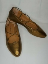 New Lucky Brand Copper Faux Leather Ballet Flats Shoes 11 Slip Ons  - $24.70