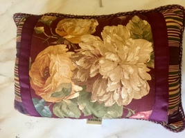 "Waverly Callaway Plantation Cottage Chic French Country Boudoir Pillow 20x14"" - $29.99"