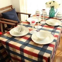 Table Cloth Edinburgh Plaid Cover Decorative Pure Cotton Home Modern Pri... - $10.69+