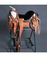 """16"""" Mexican Charro Horse Leather Saddle Bridle Breast Collar Spur Strap ... - $845.99"""