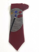 Vicky Davis New York Tie Art Paint Brush Vintage Novelty Tie Necktie - $19.79