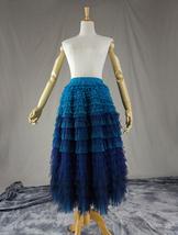 Women Layered Tulle Skirt Wedding Skirt High Waist Party Prom A-line Tulle Skirt image 6
