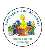 30 Sesame Street personalized birthday party stickers,labels,favors,tags... - $8.99