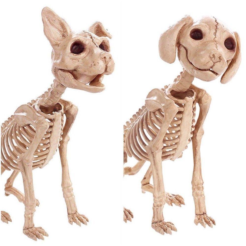 Dog Cat Skeleton Decoration Halloween Puppy Kitten Bones Skull Party Prop Decor