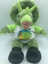 """Triceratops Dinosaur Plush Toy 16"""" Tall Clothes Boots Build A Bear Workshop - $23.36"""