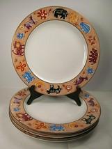 4 Furio Contemporary Casuals Animal Dinner Plates bundle of 4 - $43.22
