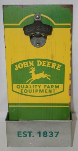 Open Roads LP67358 John Deere Green Yellow Wall Hanging Bottle Opener