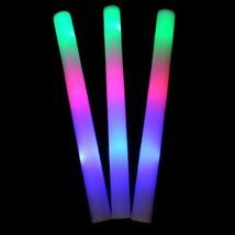 4 LIGHT UP FLASHING BLINKING FOAM TUBE STICK night time lights party sup... - $6.31