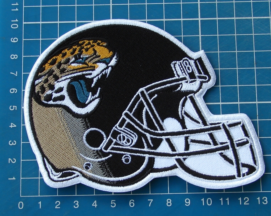 Primary image for Jacksonville Jaguars NFL Football Superbowl Jersey HELMET Patch sew embroidery