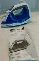Black & Decker IR03V Easy Steam Iron Blue And W... - $31.95